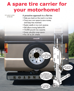 Roadmaster Spare Tire Carrier for Motorhomes