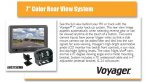 Voyager 7 inch Basic Color Rear View System