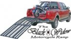 Black Widow Folding Motorcycle Ramp 40 inch x 108 inch