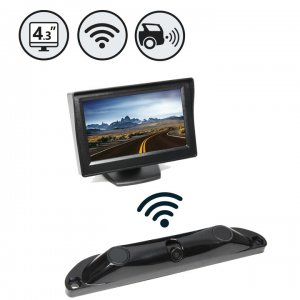 Wireless Backup Camera System with Built-In Sensors